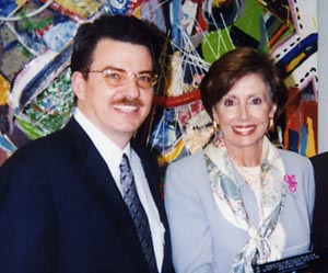 Kenneth Burt with Nancy Peolosi
