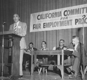 Cal Committee chair C.L. Dellums speaks at the annual conference for fair employment advocates